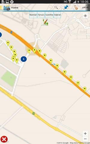 نمایش نقاط مسیر حرکت بازاریابان