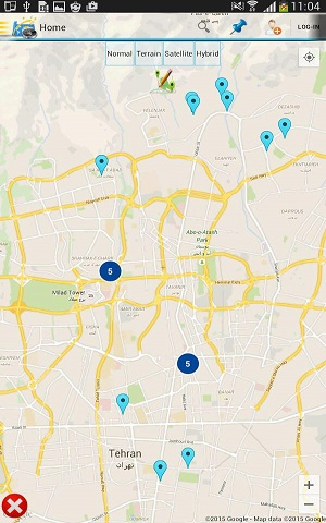 نمایش مشتریان شرکت های پخش مویرگی بر روی نقشه